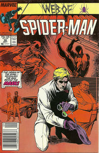 Cover Thumbnail for Web of Spider-Man (Marvel, 1985 series) #30 [Newsstand Edition]