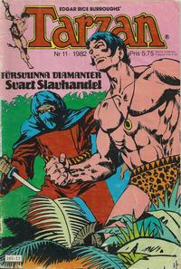Cover Thumbnail for Tarzan (Atlantic Förlags AB, 1977 series) #11/1982