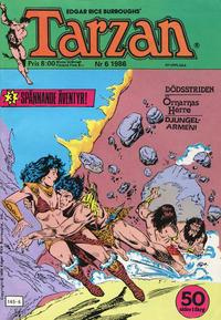 Cover Thumbnail for Tarzan (Atlantic Förlags AB, 1977 series) #6/1986