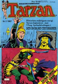 Cover Thumbnail for Tarzan (Atlantic Förlags AB, 1977 series) #2/1987