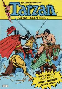 Cover Thumbnail for Tarzan (Atlantic Förlags AB, 1977 series) #6/1985
