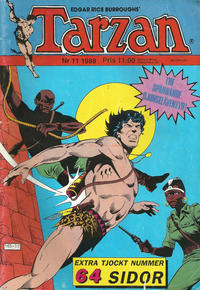 Cover Thumbnail for Tarzan (Atlantic Förlags AB, 1977 series) #11/1988
