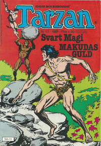 Cover Thumbnail for Tarzan (Atlantic Förlags AB, 1977 series) #13/1981