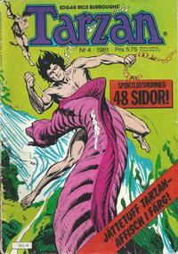 Cover Thumbnail for Tarzan (Atlantic Förlags AB, 1977 series) #4/1981