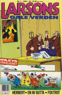 Cover for Larsons gale verden (Bladkompaniet / Schibsted, 1992 series) #1/1994