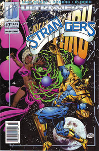 Cover for The Strangers (Malibu, 1993 series) #7 [Newsstand Edition]