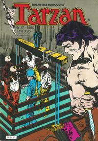 Cover Thumbnail for Tarzan (Atlantic Förlags AB, 1977 series) #17/1980