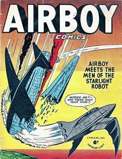 Cover for Airboy Comics (Streamline, 1951 series) #[1]