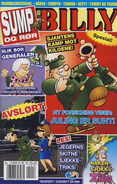 Cover for Billy (Hjemmet / Egmont, 1998 series) #18/2012
