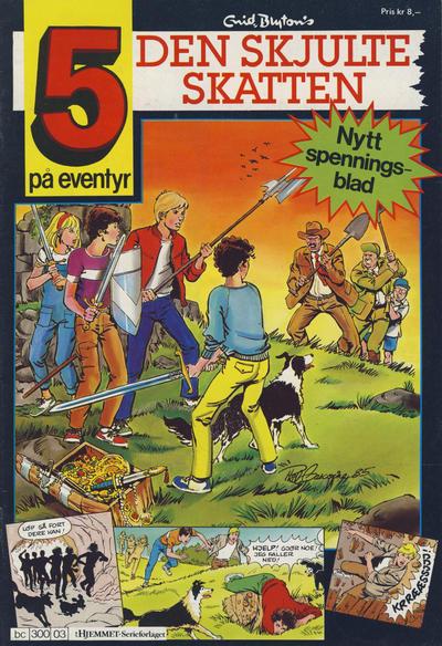 Cover for 5 på eventyr (Hjemmet / Egmont, 1986 series) #[03]