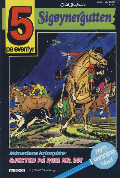 Cover for 5 på eventyr (Hjemmet / Egmont, 1986 series) #6/1986