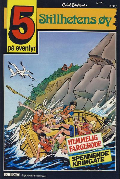Cover for 5 på eventyr (Hjemmet / Egmont, 1986 series) #7