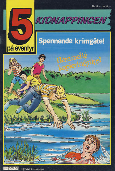 Cover for 5 på eventyr (Hjemmet / Egmont, 1986 series) #8