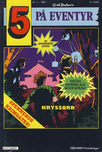 Cover for 5 på eventyr (Hjemmet / Egmont, 1986 series) #1/1987
