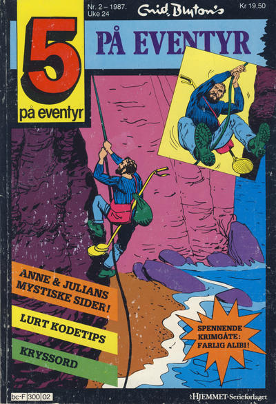 Cover for 5 på eventyr (Hjemmet / Egmont, 1986 series) #2/1987