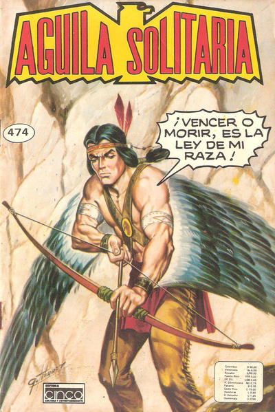 Cover for Aguila Solitaria (Editora Cinco, 1976 ? series) #474
