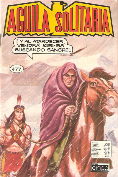 Cover for Aguila Solitaria (Editora Cinco, 1976 ? series) #477