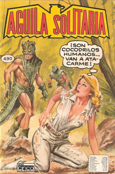 Cover for Aguila Solitaria (Editora Cinco, 1976 ? series) #490
