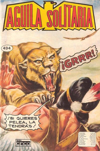 Cover for Aguila Solitaria (Editora Cinco, 1976 ? series) #494