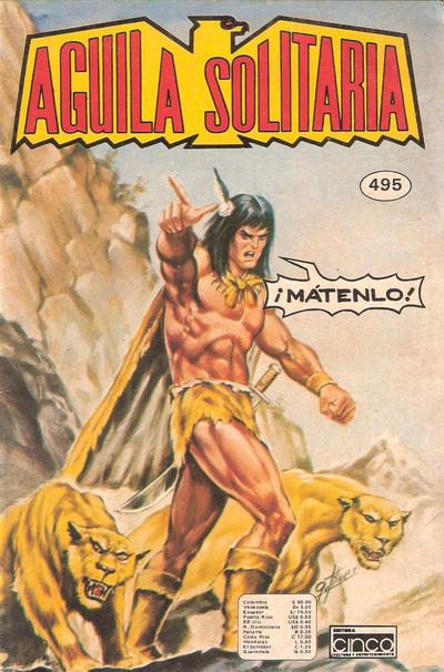 Cover for Aguila Solitaria (Editora Cinco, 1976 ? series) #495
