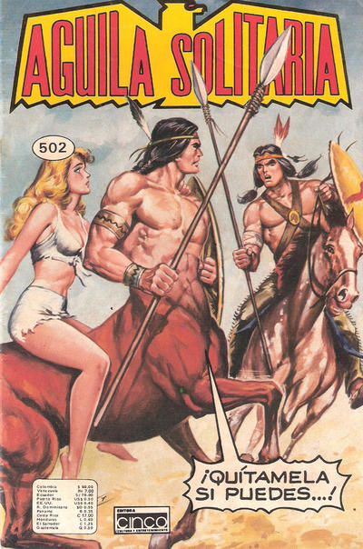 Cover for Aguila Solitaria (Editora Cinco, 1976 ? series) #502