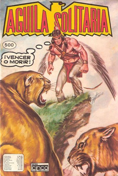 Cover for Aguila Solitaria (Editora Cinco, 1976 ? series) #500