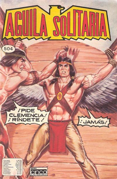 Cover for Aguila Solitaria (Editora Cinco, 1976 ? series) #504