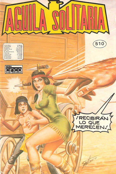 Cover for Aguila Solitaria (Editora Cinco, 1976 ? series) #510