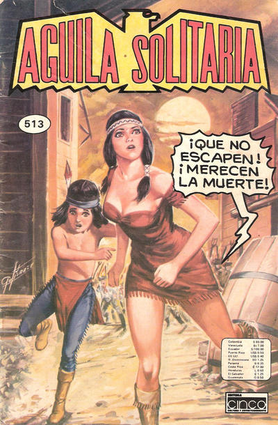 Cover for Aguila Solitaria (Editora Cinco, 1976 ? series) #513