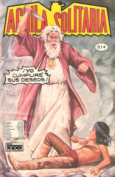 Cover for Aguila Solitaria (Editora Cinco, 1976 ? series) #514