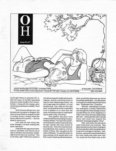 Cover for Oh (B Publications, 1992 series) #17