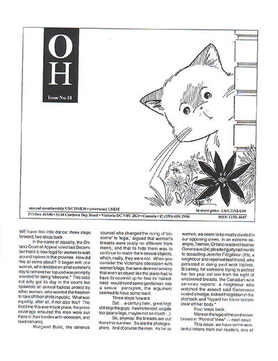 Cover for Oh (B Publications, 1992 series) #18