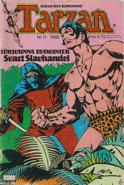 Cover for Tarzan (Atlantic Förlags AB, 1977 series) #11/1982
