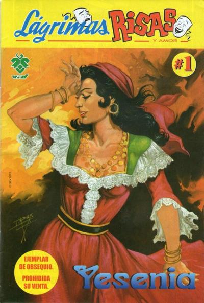 Cover for Lágrimas Risas y Amor. Yesenia (Grupo Editorial Vid, 2012 series) #1