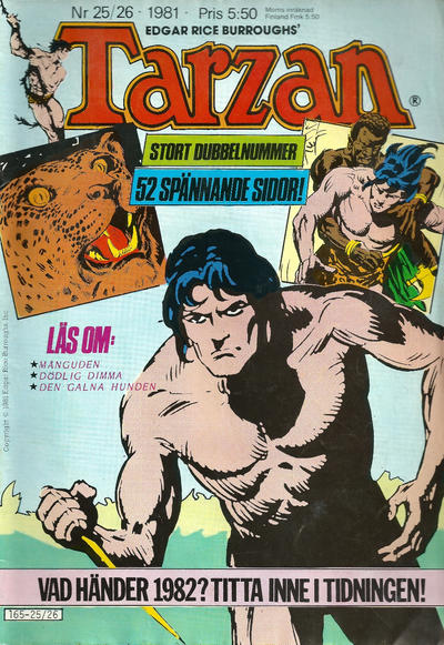 Cover for Tarzan (Atlantic Förlags AB, 1977 series) #25-26/1981