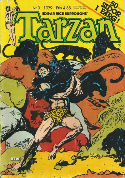 Cover for Tarzan (Atlantic Förlags AB, 1977 series) #3/1979