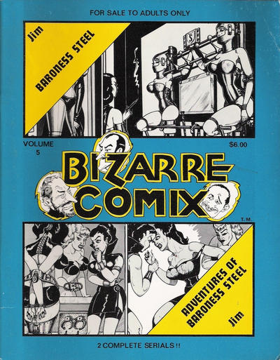 Cover for Bizarre Comix (Bélier Press, 1975 series) #5 - Baroness Steel; Adventures of Baroness Steel