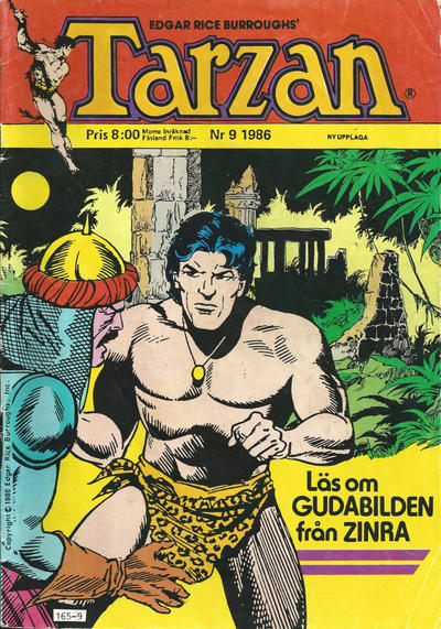 Cover for Tarzan (Atlantic Förlags AB, 1977 series) #9/1986