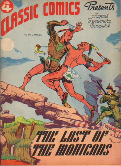 Cover for Classic Comics (Gilberton, 1941 series) #4 - The Last of the Mohicans