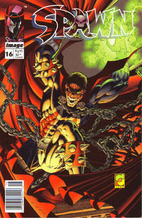 Cover Thumbnail for Spawn (Image, 1992 series) #16 [Newsstand]