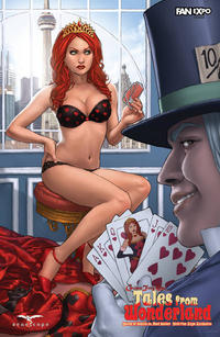 Cover Thumbnail for Tales from Wonderland: Queen of Hearts vs. Mad Hatter (Zenescope Entertainment, 2010 series)  [cover c]