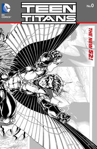 Cover Thumbnail for Teen Titans (DC, 2011 series) #0 [Brett Booth / Norm Rapmund Wraparound Black & White Cover]