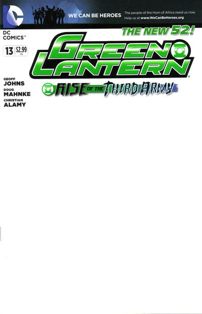 Cover for Green Lantern (DC, 2011 series) #13
