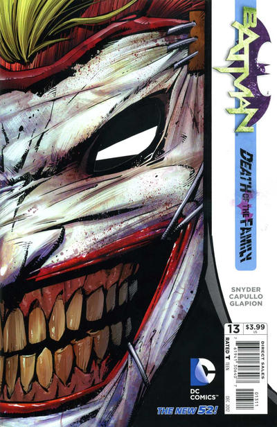 Cover for Batman (DC, 2011 series) #13 [Second Printing]