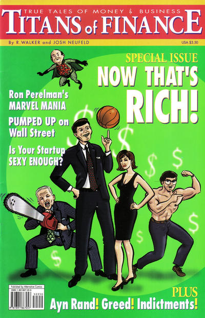 Cover for Titans of Finance: True Tales of Money & Business (Alternative Comics, 2001 series)