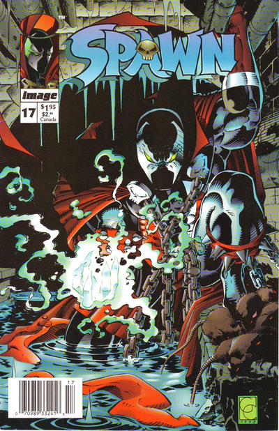 Cover for Spawn (Image, 1992 series) #17 [Newsstand]