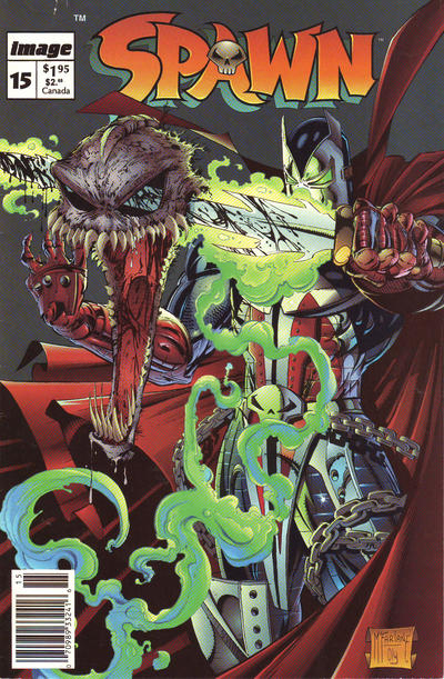 Cover for Spawn (Image, 1992 series) #15 [Newsstand]
