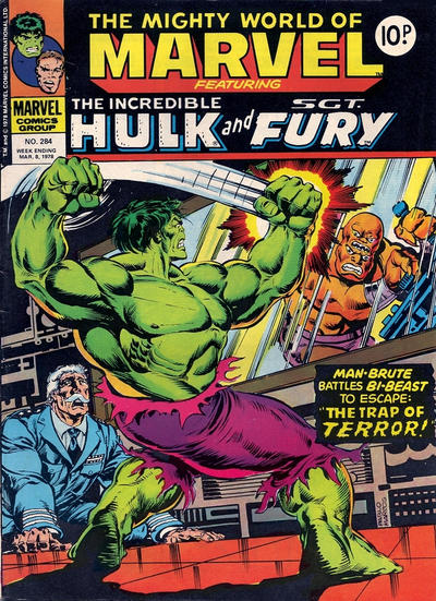 Cover for The Mighty World of Marvel (Marvel UK, 1972 series) #284