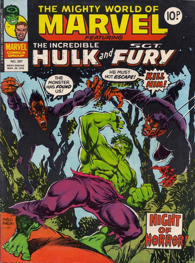 Cover for The Mighty World of Marvel (Marvel UK, 1972 series) #287