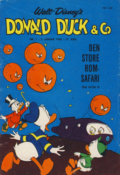Cover for Donald Duck & Co (Hjemmet / Egmont, 1948 series) #1/1968
